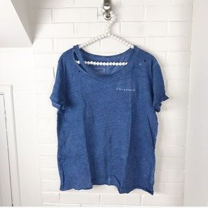 """{good hYOUman} NWT """"F Being Perfect"""" Graphic Tee"""